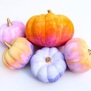 watercolor painted pumpkins