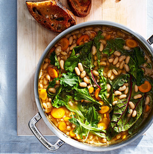 white beans greens stew