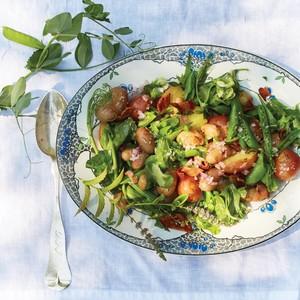 Potato, Snap Pea, and Pea-Tendril Salad