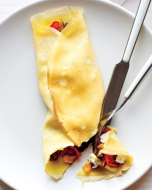 Crepes with Vegetables and Goat Cheese