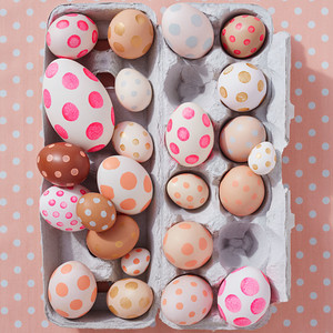 Polka-Dot Easter Eggs