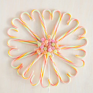 candy cane tree topper