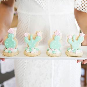 cinco de mayo floral fiesta cacti cactus cookies