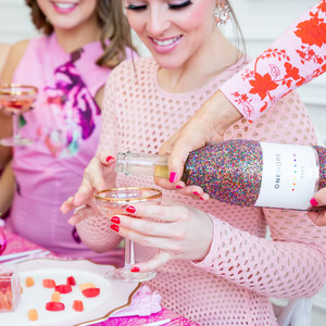 Galentine's Day pink brunch