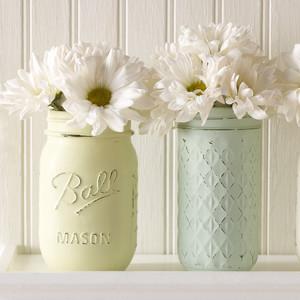 Vintage Decor Mason Jars