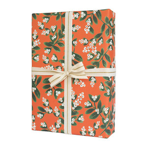Rifle Paper Co. Mistletoe and Birch wrapping paper