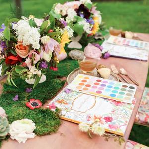 Watercolor paint garden party