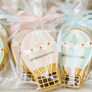 Baby Shower Balloon Shaped Cookies