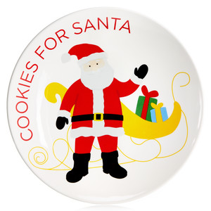 Martha Stewart Collection Santa Cookie Plate