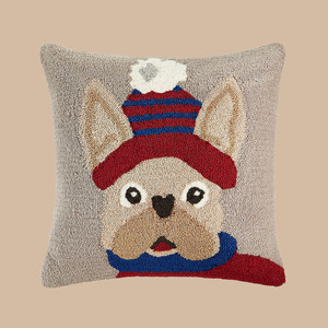 Martha Stewart Collection Hooked Dog Decorative Pillow
