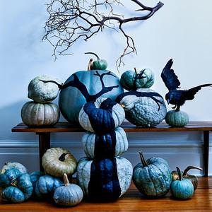 painted tree branch pumpkin