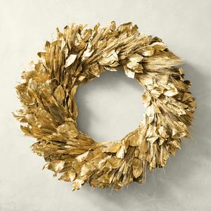 Martha Stewart Gold Wreath
