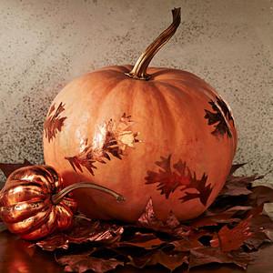 foiled pattern pumpkin
