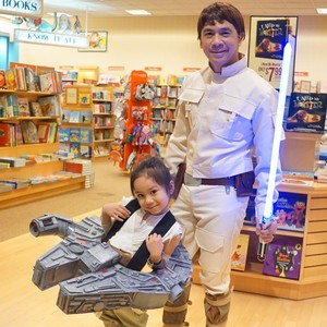 Dino Ignacio and his daughter in Star Wars costumes
