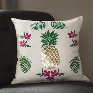 Martha Stewart DIY Pineapple Pillow Cover