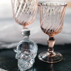 halloween rose gold dinner goblets glasses table setting