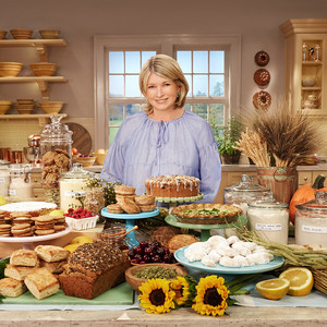 martha behind spread of food