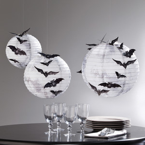 Martha Stewart Hanging Moon Paper Lanterns
