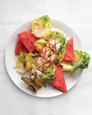 夏季晚餐六份超级沙拉