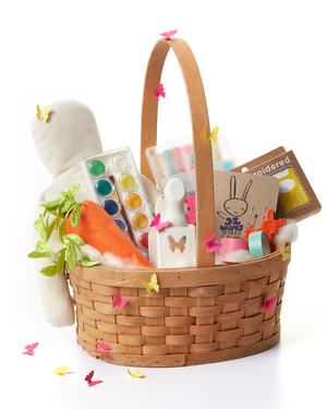 Personalized easter baskets with crafts gifts martha stewart 12 creative and colorful easter basket ideas for girls negle Image collections