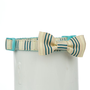 Martha Stewart Pets ® Striped Bow Cat Collar