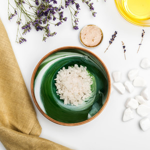 lavender mask ingredients plants at-home spa