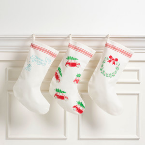 Stenciled Holiday Stockings