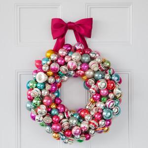 Christmas ornament wreath martha stewart show it off solutioingenieria Choice Image