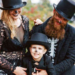 eli skeleton masquerade birthday party mother father son