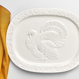 Martha Stewart Collection Harvest Turkey Platter