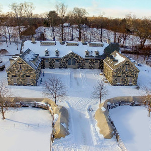 These Stunning Aerial Shots of Martha's Bedford Home Were Taken By Her Drone