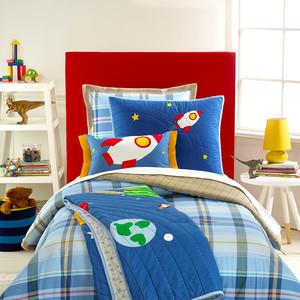 Martha Stewart Collection Kids Action Plaid Comforter Set