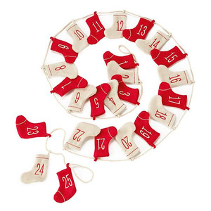 Martha Stewart Living Felted Stockings Advent Calendar