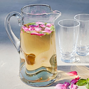 rose mint tea in pitcher