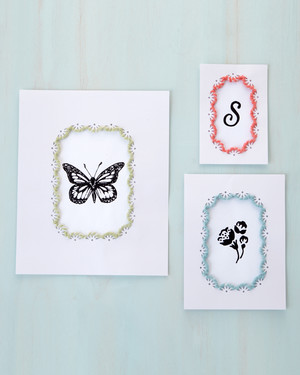 Frame Border Craft Punch Projects