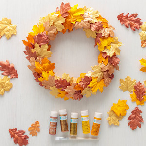 Painted Autumn Leaf Wreath