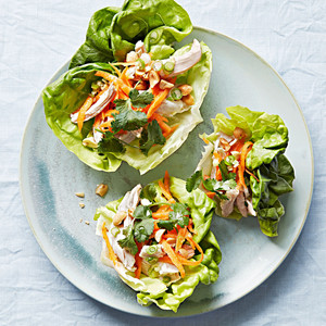 Poached-Chicken Cups with Ginger-Scallion Oil
