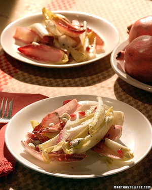 Endive, Blue Cheese, and Pomegranate Salad