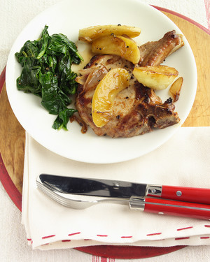 Pork Chops with Apples And Shallots