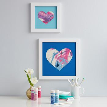 Heart-Framed Shadow Box