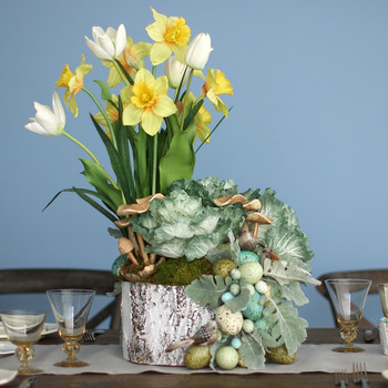 Watch as Kevin Sharkey Arranges a Garden-Inspired Easter Basket for Martha Stewart