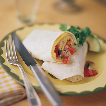 Fresh Tomato Salsa and Jack Cheese Omelet Burrito