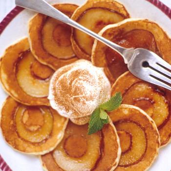 Silver Dollar Pear Pancakes