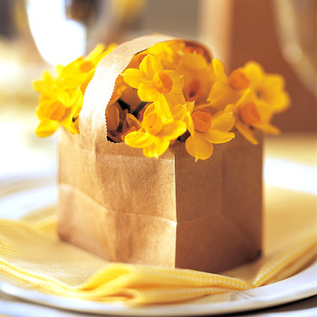 Paper Basket Bouquet