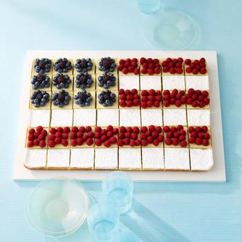 国旗覆盖甜点爱国四7月