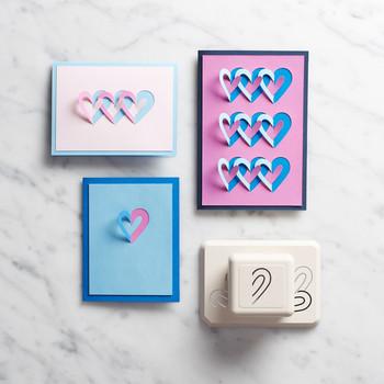 3-D Hearts Card