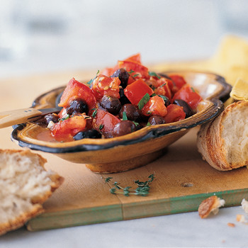 Sauteed Black Olives with Tomatoes