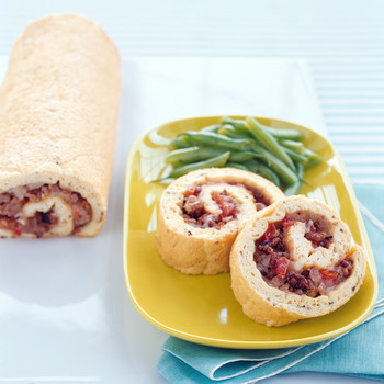 Sausage-and-Tomato Egg Roll-Up