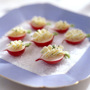 Radishes with Chive Butter