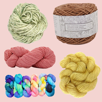 composite of vegan yarn